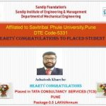 Ashutosh Kharche placed in TCS
