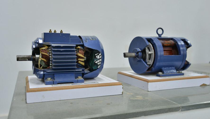 Cut View Dc & Ac Motor